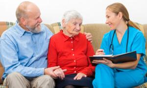 Nurse with two elders