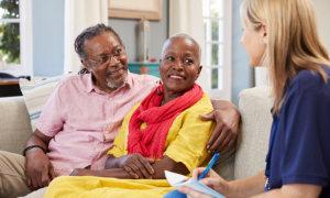 seniors with caregiver
